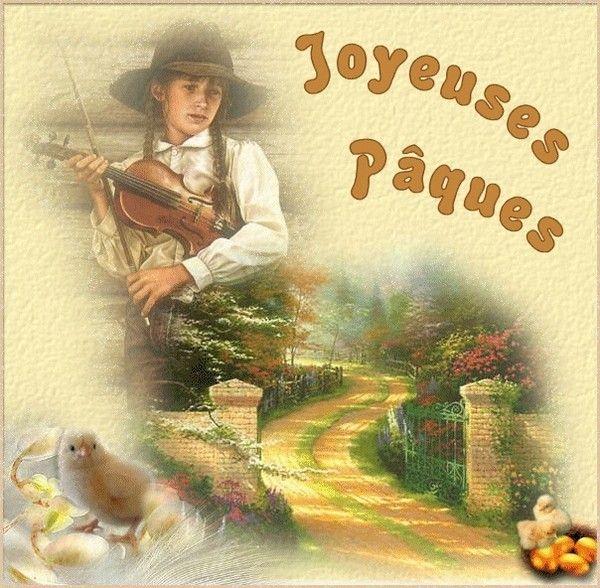 belle image JOYEUSES PAQUES