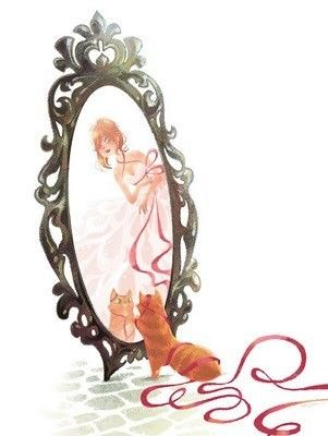 gif : coucou c'est moi dans le miroir!