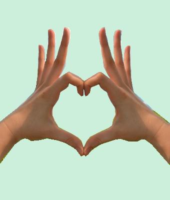 gif:divers, coeur avec mains