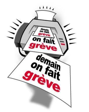 gif : texte,on fait grève