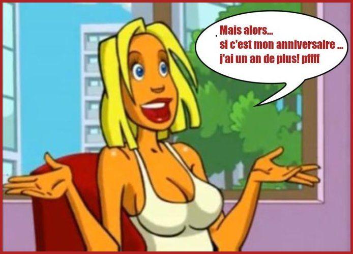 anniversaire humour blonde