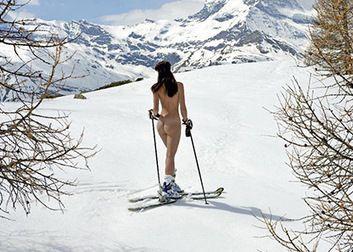 Photos de ski nu