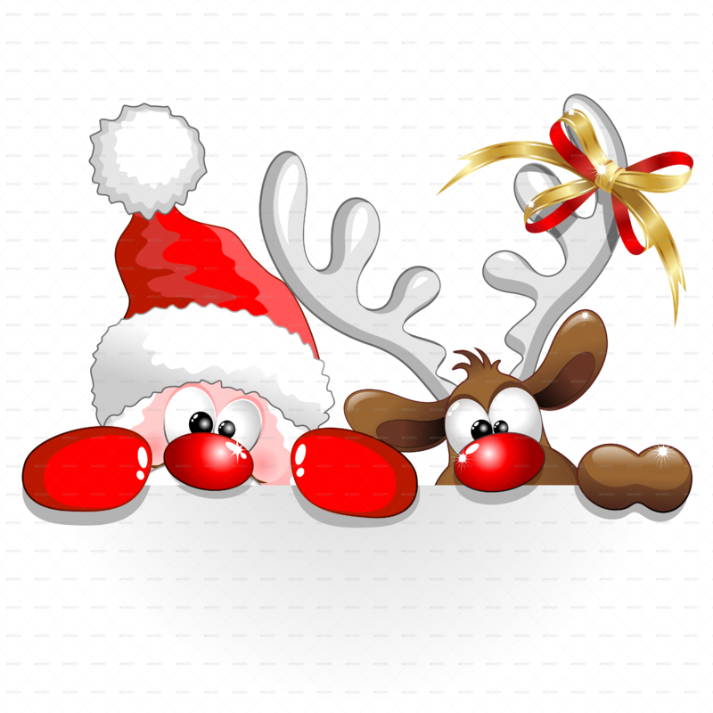 Livre d'Or A-Funny-Christmas-Santa-and-Reindeer-Cartoon-PNG-5000