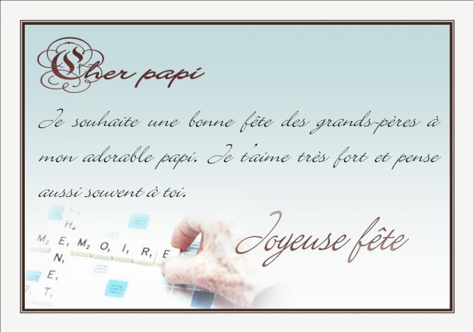 page sp ciale bonne f te papi papy p p grand p re. Black Bedroom Furniture Sets. Home Design Ideas