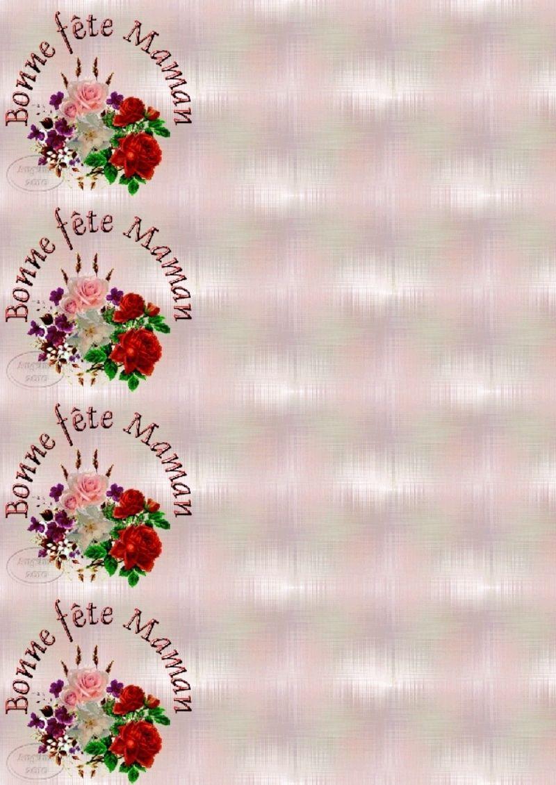 Papier lettre maman for Bouquet de fleurs 7 lettres
