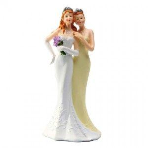 couple femmes mariees mariage statue figurine gay homosexuel - Figurine Mariage Gay