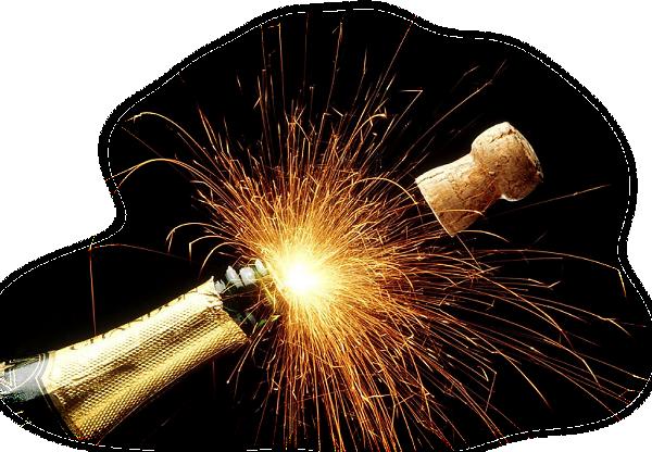 Trinquons le nouvelle ann e champagne dont anim - Comment peindre un verre transparent ...