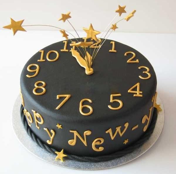 New Year Chocolate Cake Images : gateaux horloge minuit bonne annee (images)