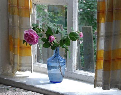 Bouquets fleurs sur le rebord de la fen tre images for La fenetre translation