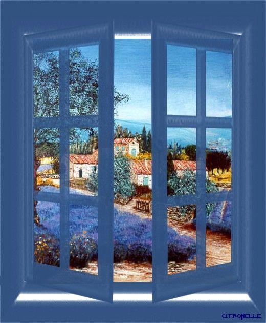 Gif fenetre paysage de provence for Fenetre ouverte sur paysage
