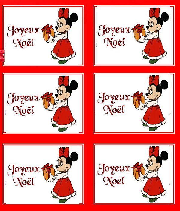 Jour j moins 13 de noel tiquettes cadeaux imprimer - Joyeux noel disney ...