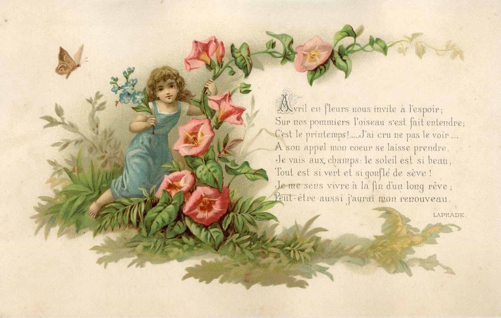 Jolies cartes anciennes printemps et paques - Carte de paques gratuite ...
