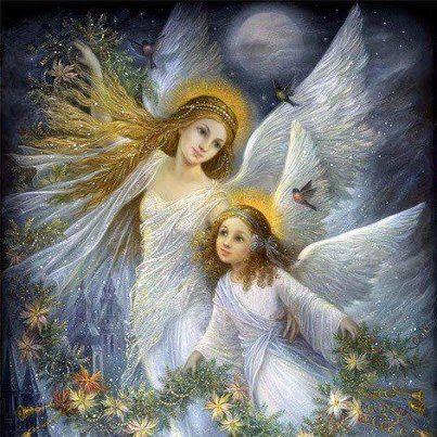 Jolis anges de noel image pieuse - Anges de noel ...