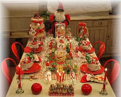 Images tables de f tes - Table de fete decoration noel ...